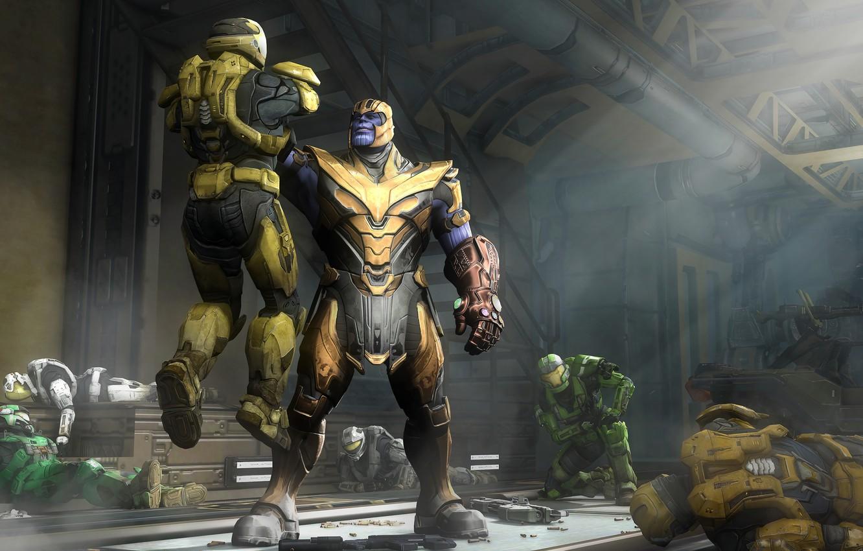 Wallpaper Halo Spartan Master Chief Titan Thanos