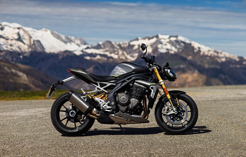 Photo wallpaper motorcycle, triumph, motorbike, 1200, 2021, speed triple, triumph speed tripple