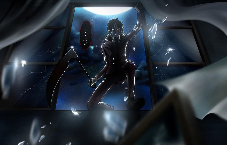 Photo wallpaper night, window, guy, Angel bloodshed, Satsuriku no Tenshi, Zach Foster