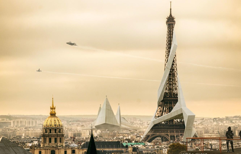 Photo wallpaper Paris, Deus Ex: Mankind Divided, Paris 2029, Nivanh Chanthara, A Divided Humanity
