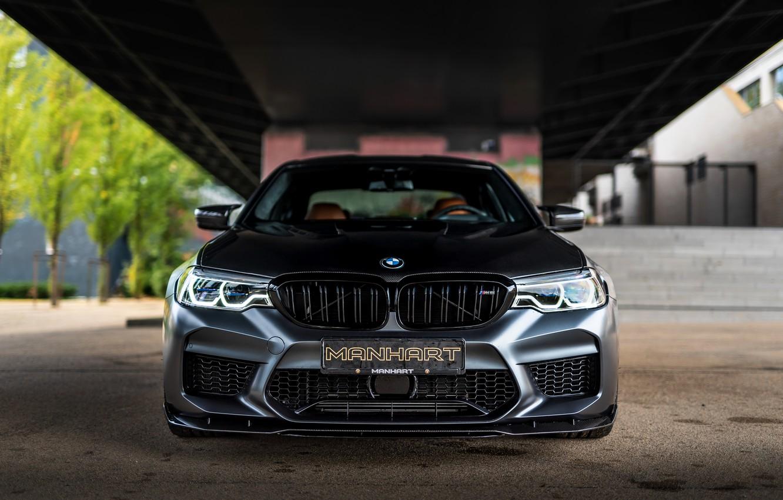 Photo wallpaper BMW, sedan, front view, Biturbo, BMW M5, Manhart, M5, V8, F90, 2019, 4.4 L., MH5 …