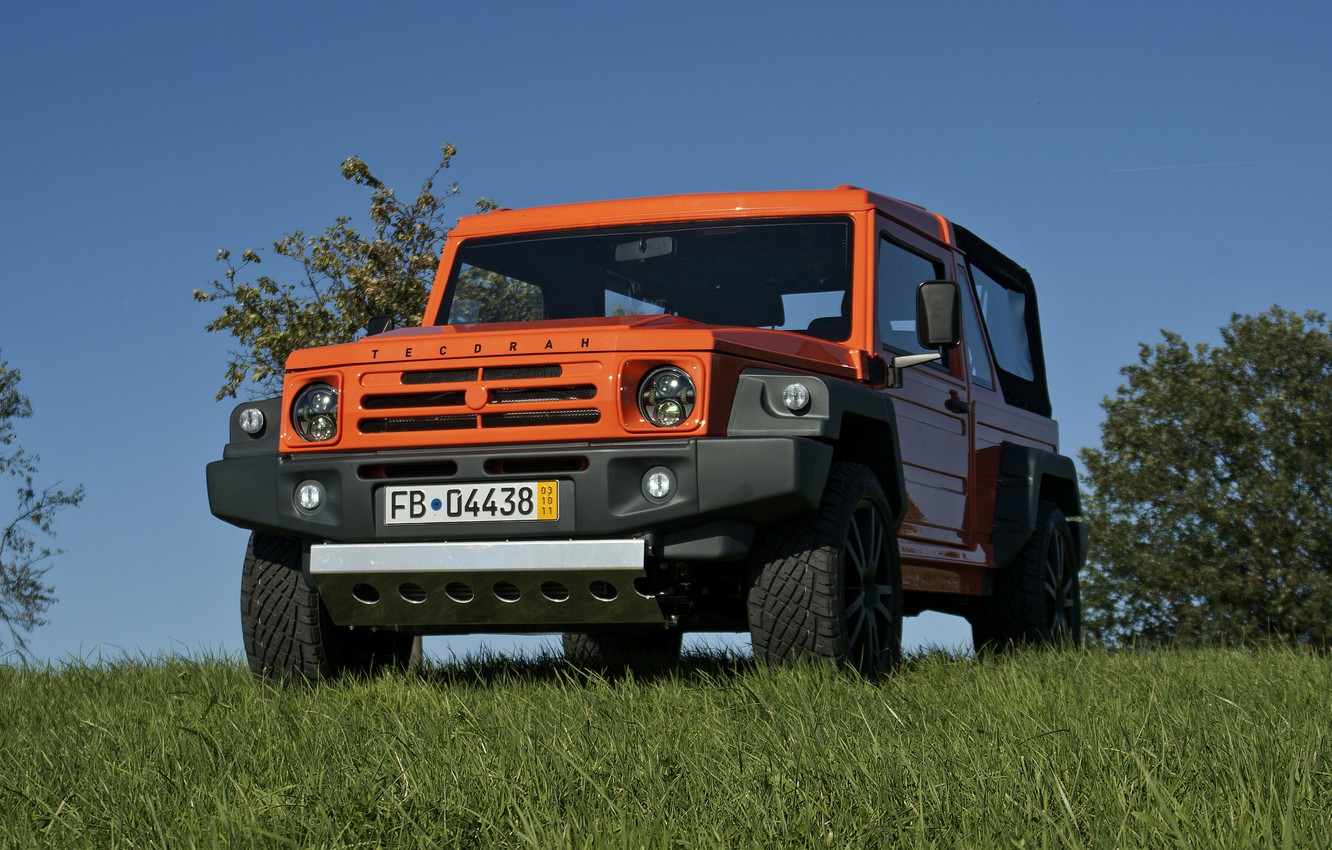 Photo wallpaper greens, orange, SUV, 2011, 4x4, shrub, Travec, Tecdrah Integrale 1.5 TTi, Renault/Dacia Duster, frame