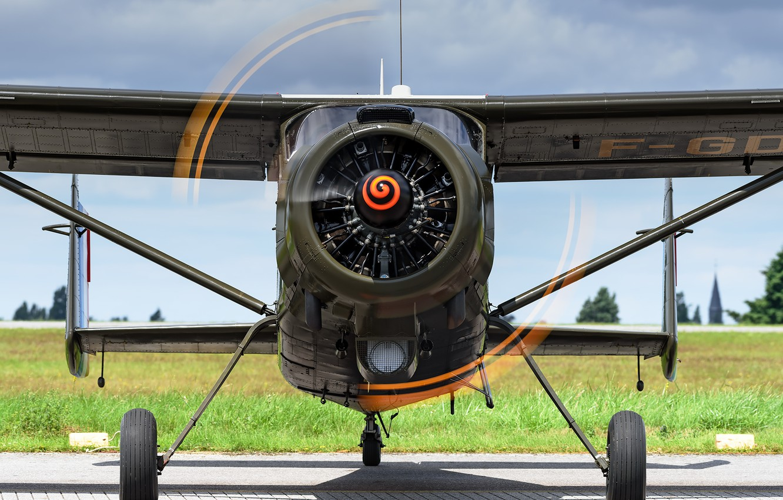Photo wallpaper the plane, France, screw, multipurpose, MH-1521 Broussard, Max Holste