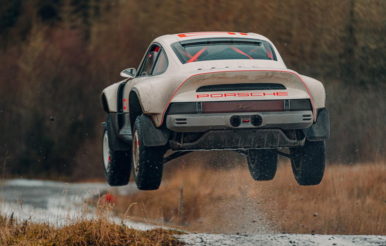 Photo wallpaper squirt, jump, 911, Porsche, Singer, acs, 2021, SCRS, All-terrain Competition Study