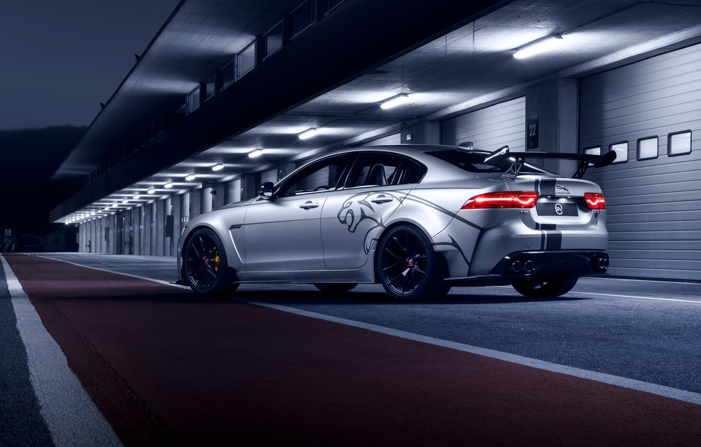 Photo wallpaper Jaguar, rear view, 2018, XE SV, Project 8