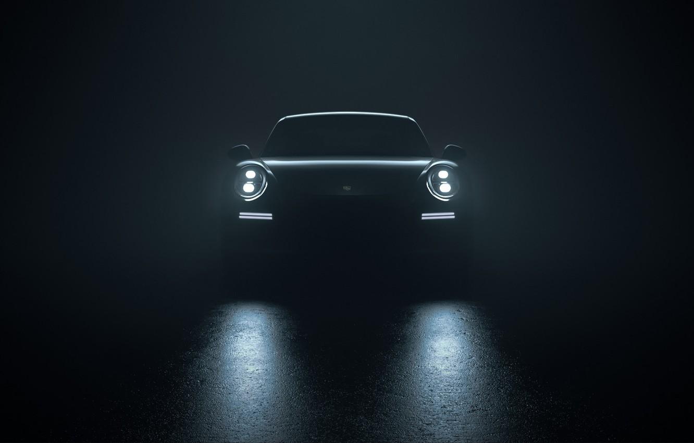 Photo wallpaper Auto, 911, Porsche, Machine, Lights, Porsche 911, Rendering, The front, Turbo S, Porsche 911 Turbo …