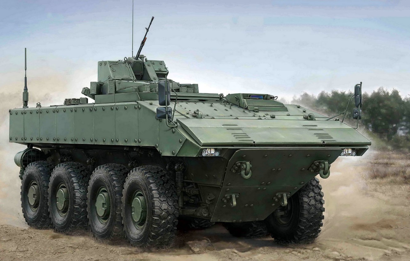 """Photo wallpaper armored combat vehicle, Boomerang, middle weight category, Unified combat platform codenamed """"boomerang"""", wheeled platform, promising …"""