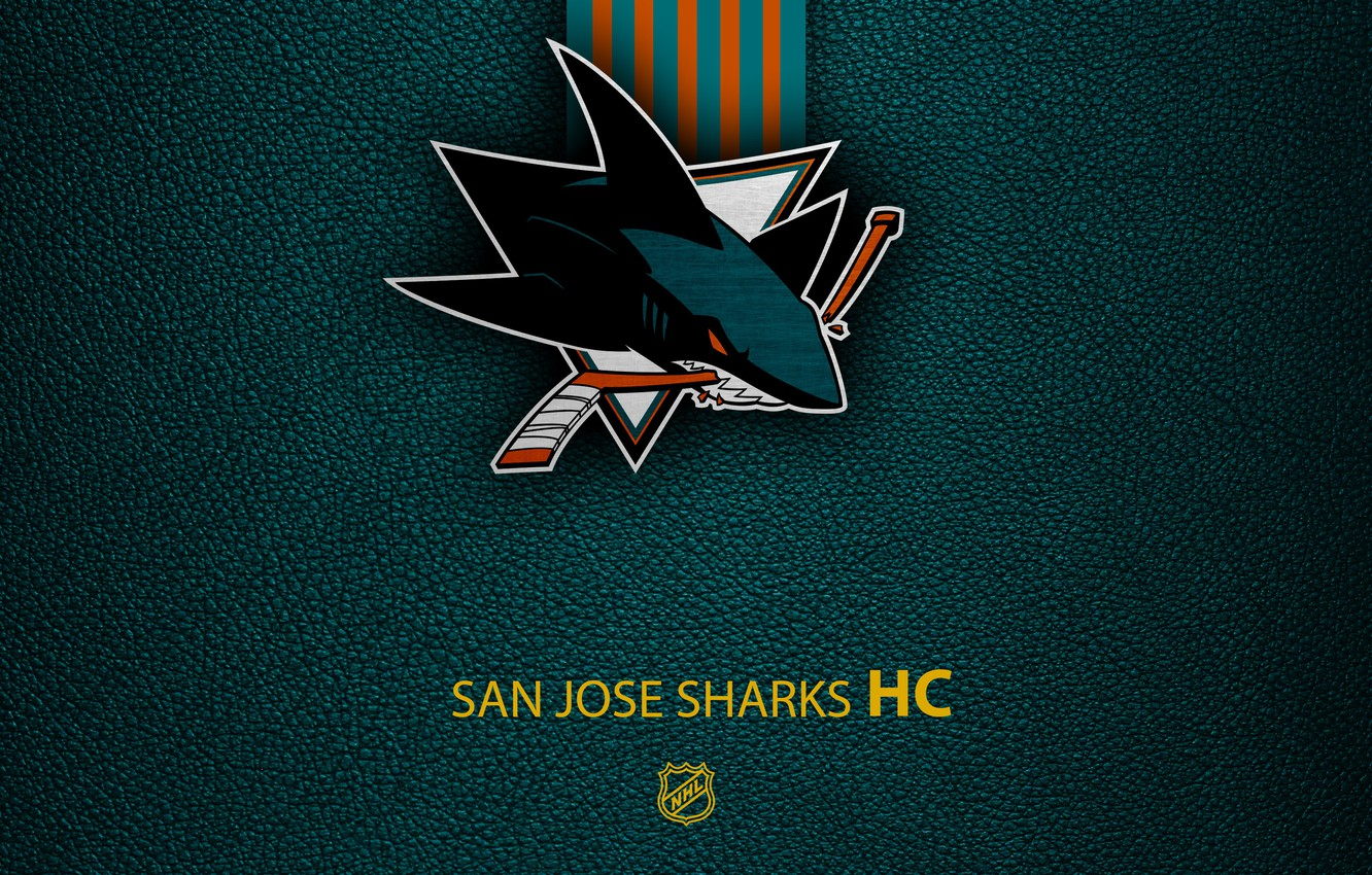 Photo wallpaper wallpaper, sport, logo, San Jose Sharks, NHL, hockey