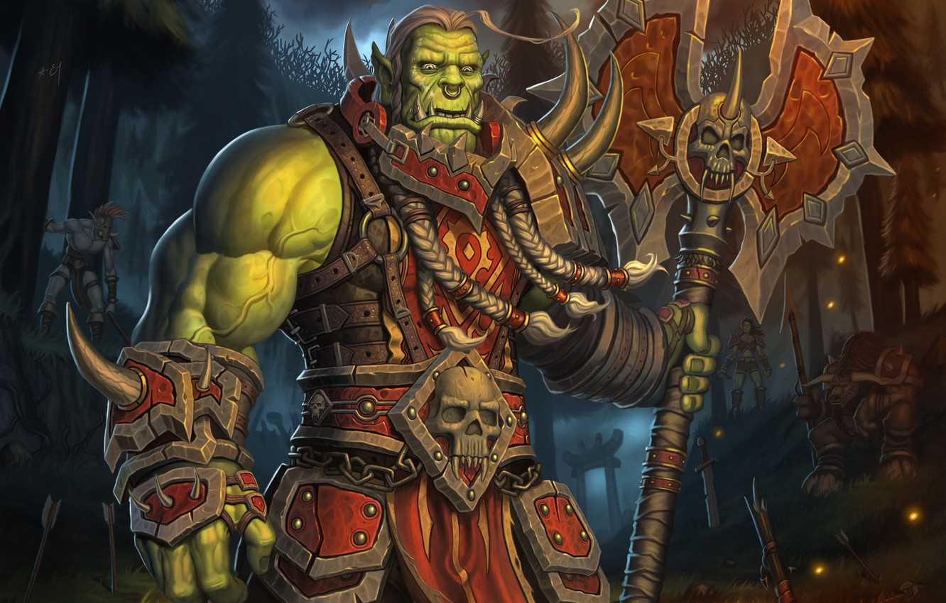 Wallpaper Forest World Of Warcraft Fantasy Blizzard Art Orc