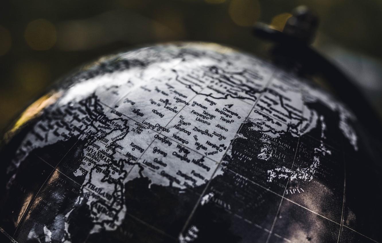 Photo wallpaper map, geography, globe, mainland