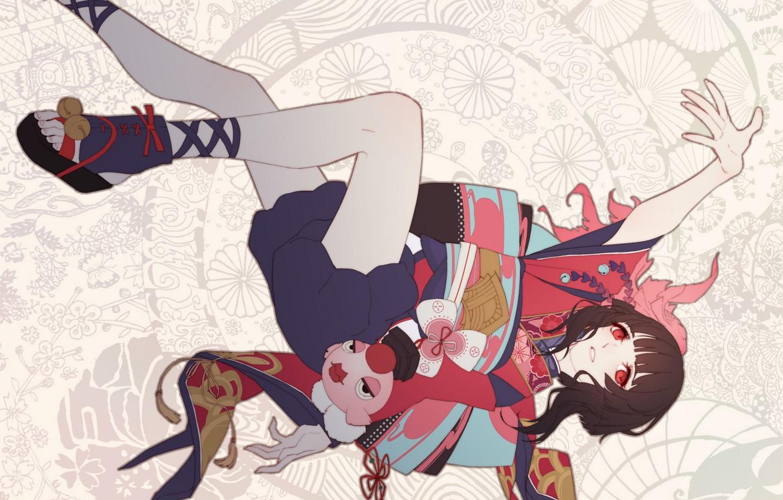 Photo wallpaper girl, fish, Onmyouji