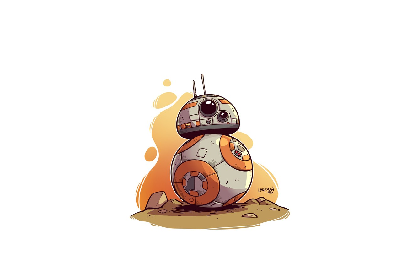 Wallpaper Star Wars Bb 8 Derek Laufman Images For Desktop Section Minimalizm Download