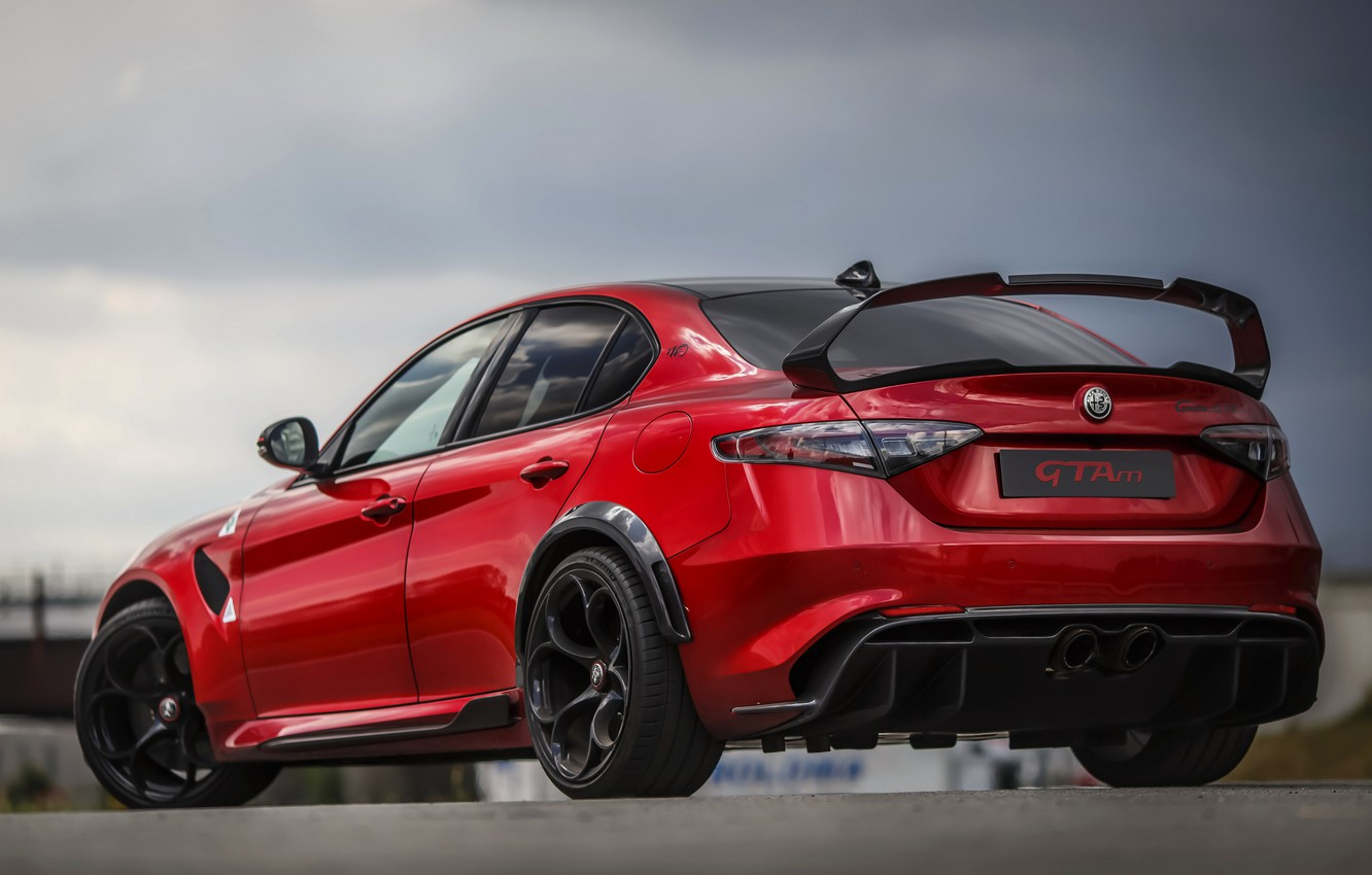 Photo wallpaper wing, Alfa Romeo, ass, Giulia, GTAm, 2020, Gran Turismo Alleggerita changed