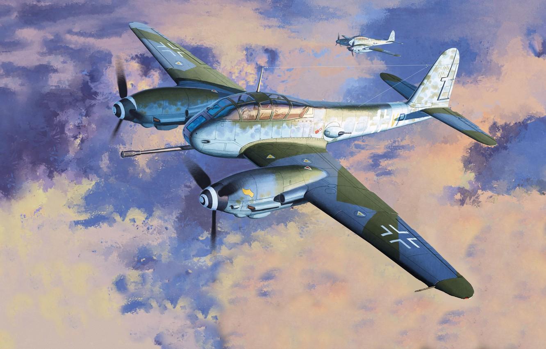 Photo wallpaper Germany, heavy fighter, Me-410, Messerschmitt 410, Me 410B-2/U4