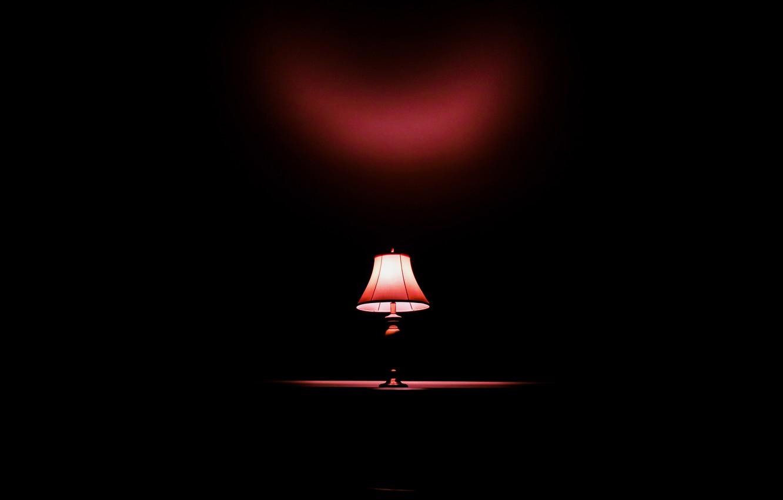 Photo wallpaper light, darkness, lamp, minimalism