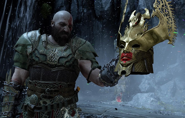Wallpaper Man Helmet Kratos God Of War God Of War 2018