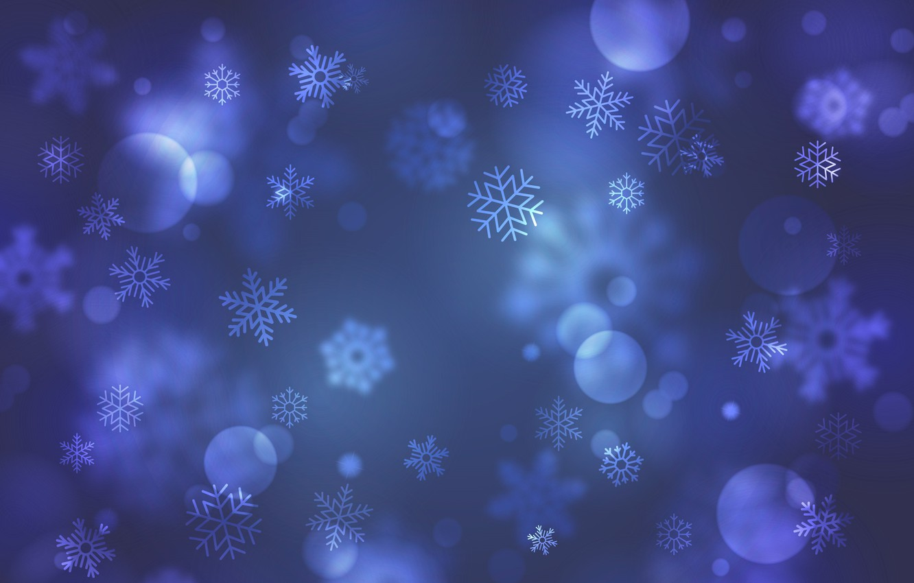 Photo wallpaper snowflakes, blue, background, background