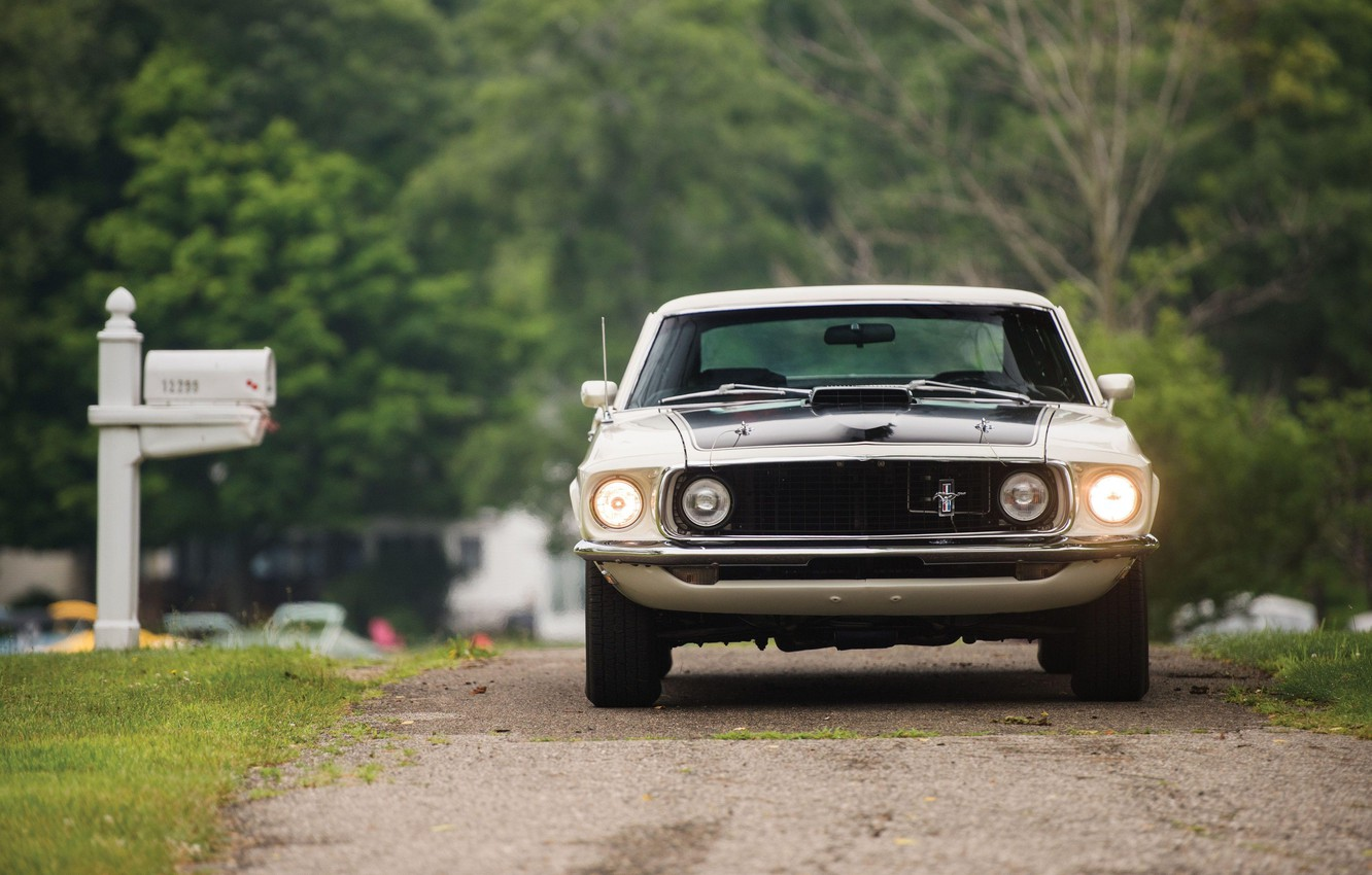 Photo wallpaper 1969, Ford Mustang, Muscle Car, 428 Cobra Jet, Mach I