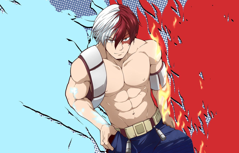 Photo wallpaper Look, Fire, Guy, My Hero Academia, Boku No Hero Academy, Todoroki Shoto, My Hero Academy