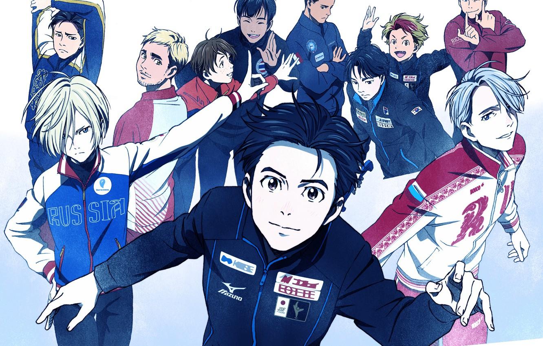 Photo wallpaper anime, art, skaters, guys, characters, Yuri on Ice, Yuri on the ice, Victor Nikiforov