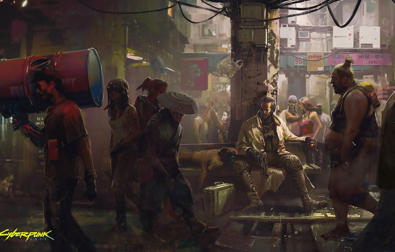 Wallpaper The Game Street People Art Cyborg Cd Projekt Red Cyberpunk 2077 Cyberpunk