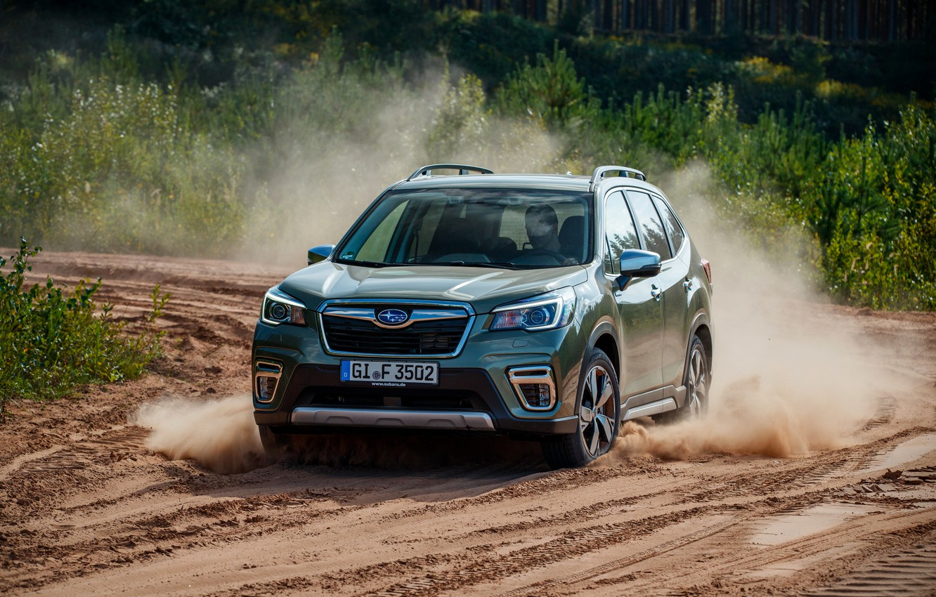Photo wallpaper sand, dust, Subaru, crossover, Forester, 2019