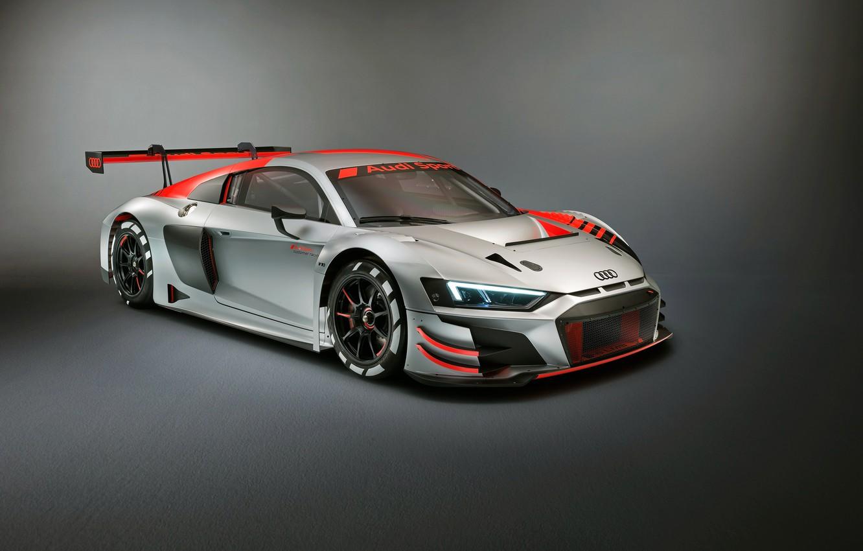 Photo wallpaper racing car, Audi R8, LMS, 2019