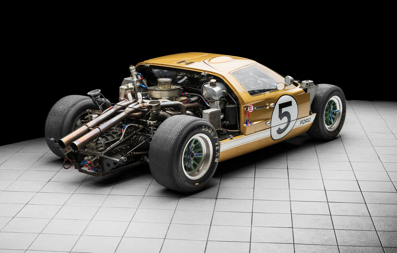 Photo wallpaper Ford, Engine, 1966, 24 Hours of Le Mans, 24 hours of Le Mans, GT40, Sports …