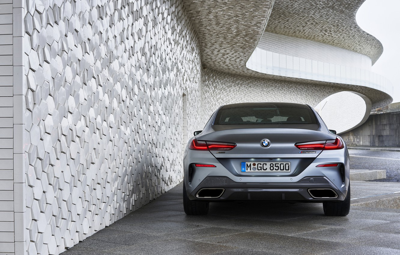 Photo wallpaper wall, coupe, BMW, rear view, Gran Coupe, 8-Series, 2019, the four-door coupe, Eight, G16