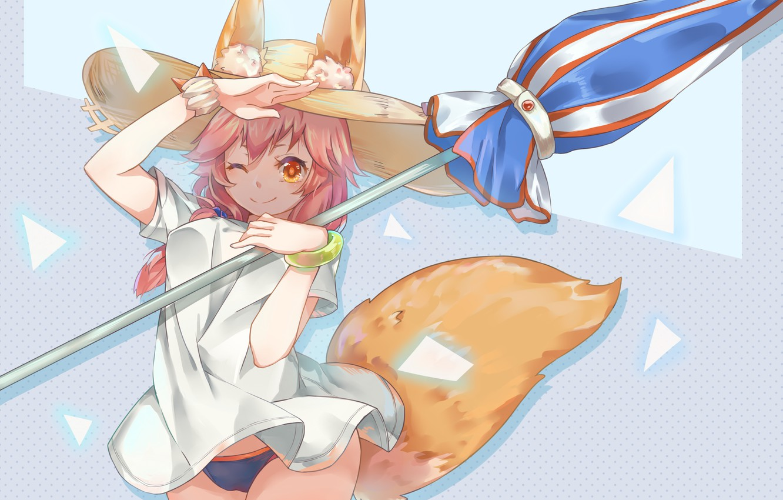 Photo wallpaper Girl, Umbrella, Fate / Grand Order, The destiny of a great campaign