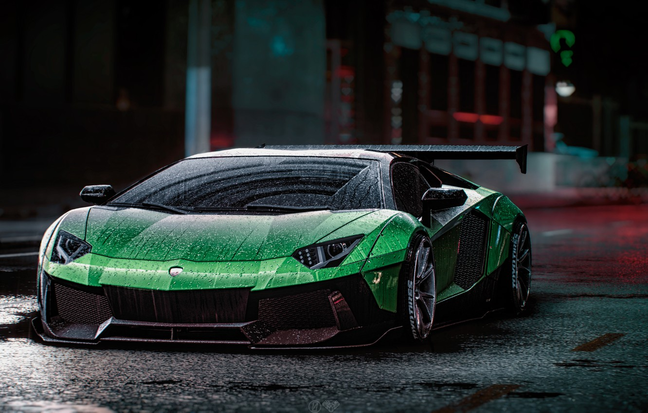 Photo wallpaper Lamborghini, NFS, Aventador, Electronic Arts, Need For Speed, Liberty Walk, Need For Speed 2015, game …