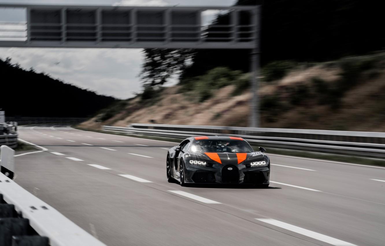 Photo wallpaper asphalt, speed, Bugatti, hypercar, Chiron, Super Sport 300+