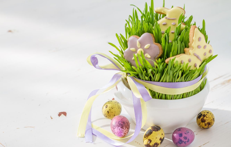Photo wallpaper holiday, cookies, Easter, figures, Easter, composition, Eggs, Naumenko Oleksandra