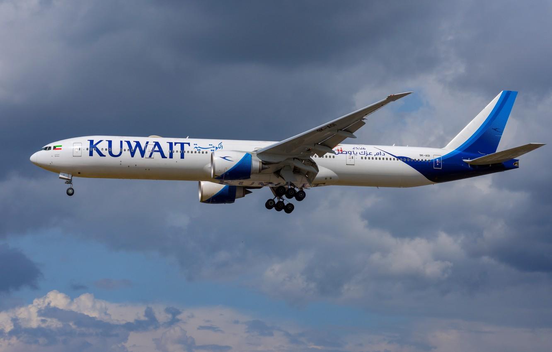 Photo wallpaper Boeing, 777-300ER, Kuwait Airways