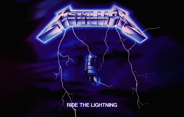 Wallpaper Lightning Album Metallica Thrash Metal Album