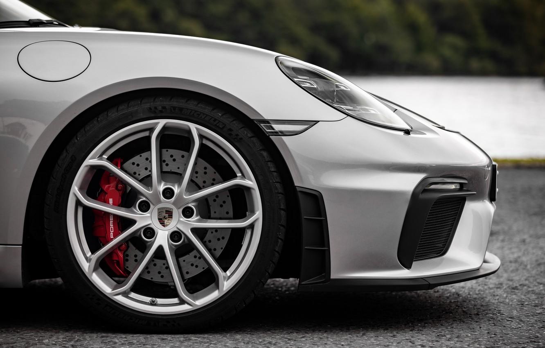 Photo wallpaper Porsche, Disk, Wheel, Spyder, Brake disc, Porsche 718, 2019, Porsche 718 ( 982 ) Spyder