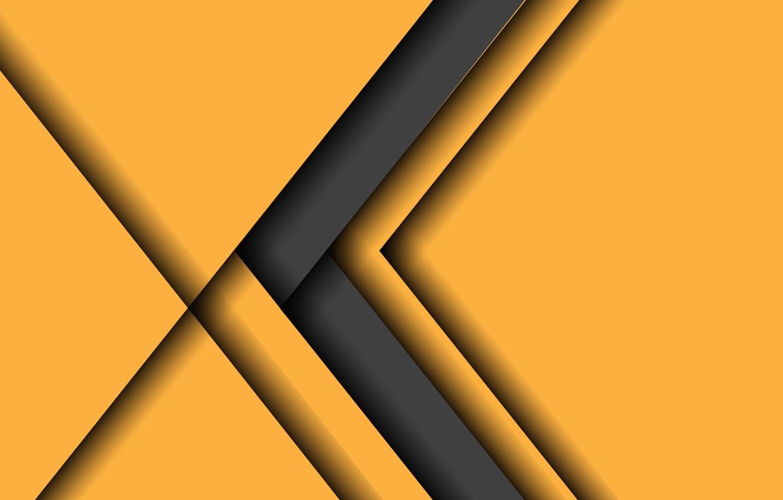 Photo wallpaper yellow, grey, background, arrow, design, material