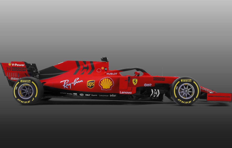 Photo wallpaper Ferrari, sport, Formula 1, simple background, SF90, Ferrari SF90