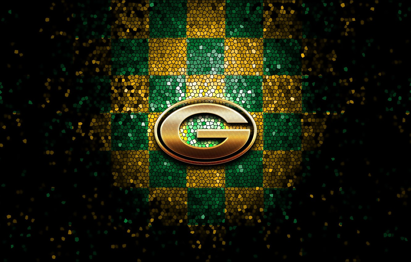 Wallpaper Wallpaper Sport Logo Nfl Glitter Checkered Green