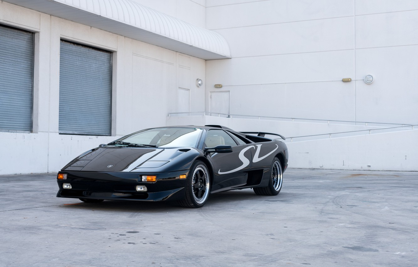 Photo wallpaper Black, Supercar, Super Veloce, 1998 Lamborghini Diablo SV