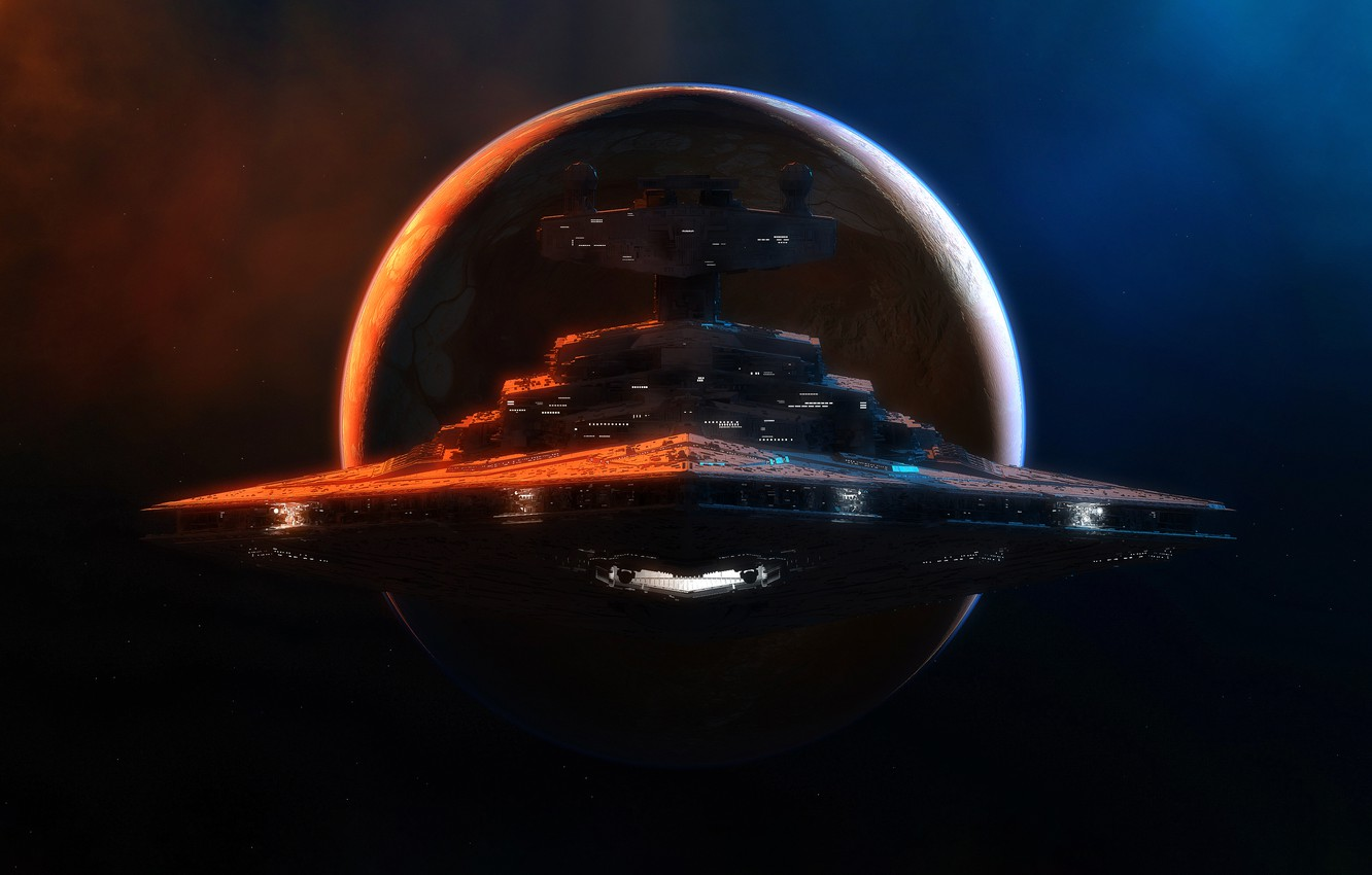 Wallpaper Stars Planet Space Nebula Ship Star Wars Empire Stars Space Spaceship Planet Star Destroyer Fiction Nebula Grahamtg Spaceship Images For Desktop Section Fantastika Download
