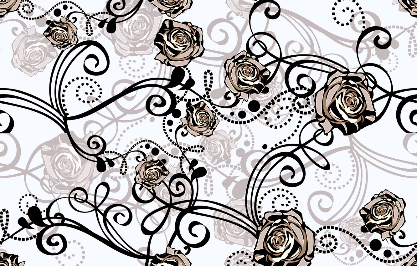 Photo wallpaper background, pattern, roses