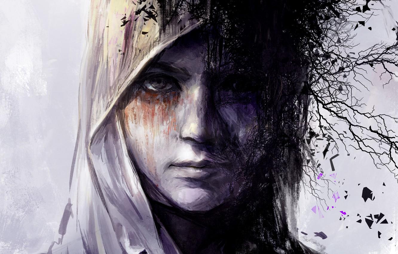 Photo wallpaper look, face, fiction, portrait, fantasy, art, art