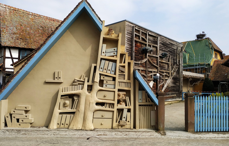Photo wallpaper house, france, alsace