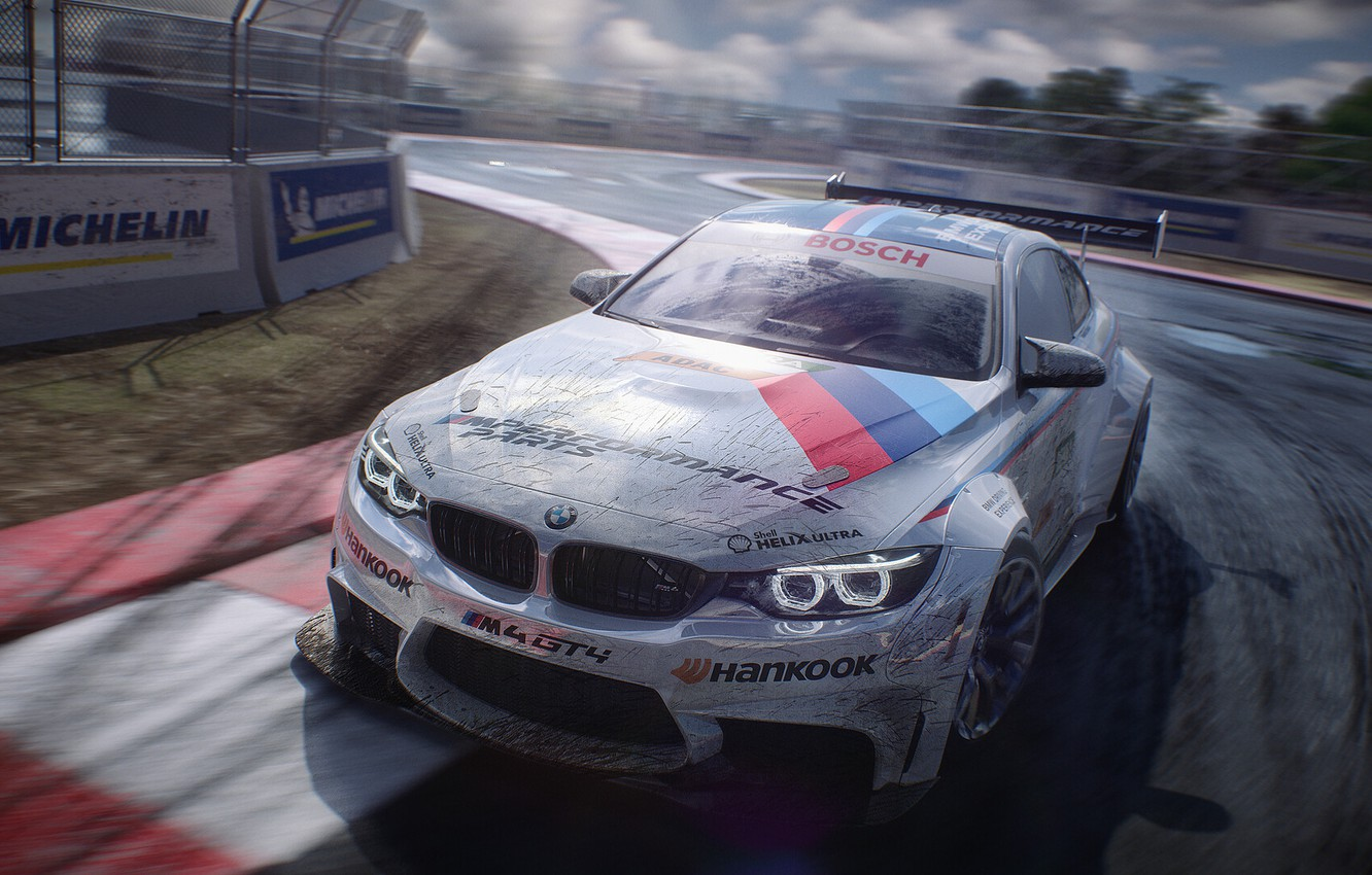 Photo wallpaper Auto, BMW, Sport, Machine, Car, Racing track, Motorsport, The front, Motorsports, Transport & Vehicles, Raceing, …