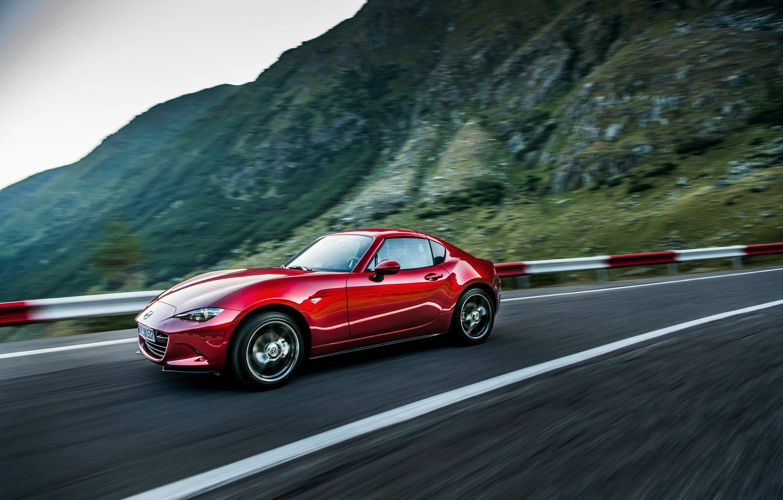 Photo wallpaper mountains, red, Mazda, Targa, 2019, MX-5 RF
