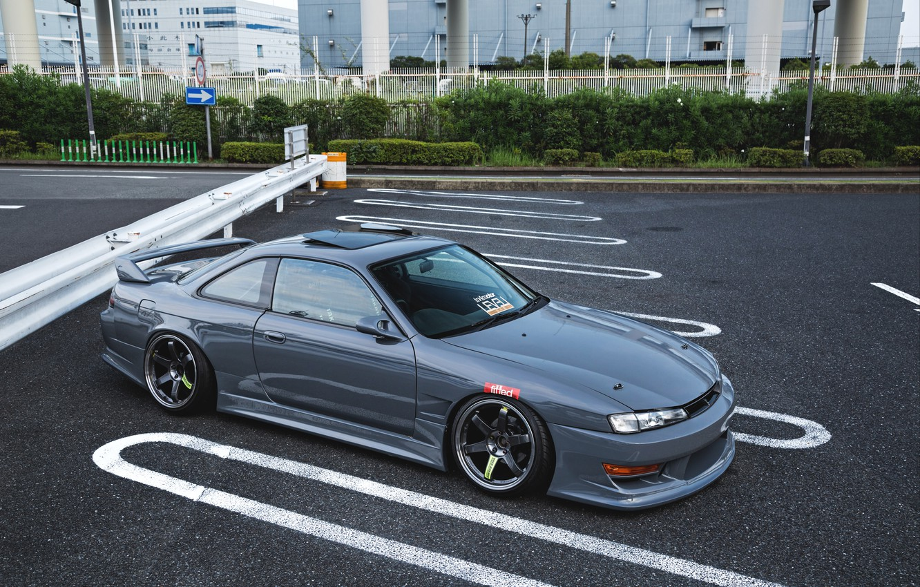 Photo wallpaper NISSAN, S14, JDM, SILVIA