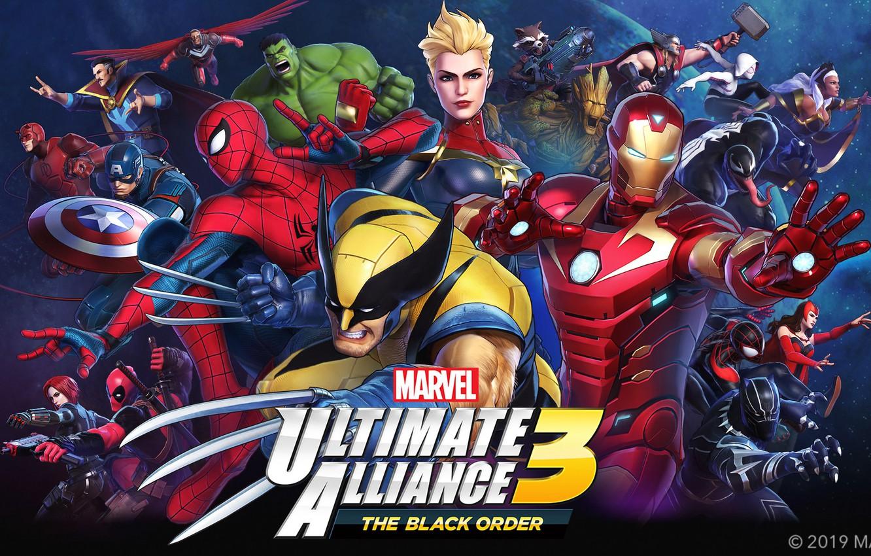 Photo wallpaper spider-man, storm, Wolverine, deadpool, captain america, thor, hulk, iron man, daredevil, black widow, rocket, X-men, …
