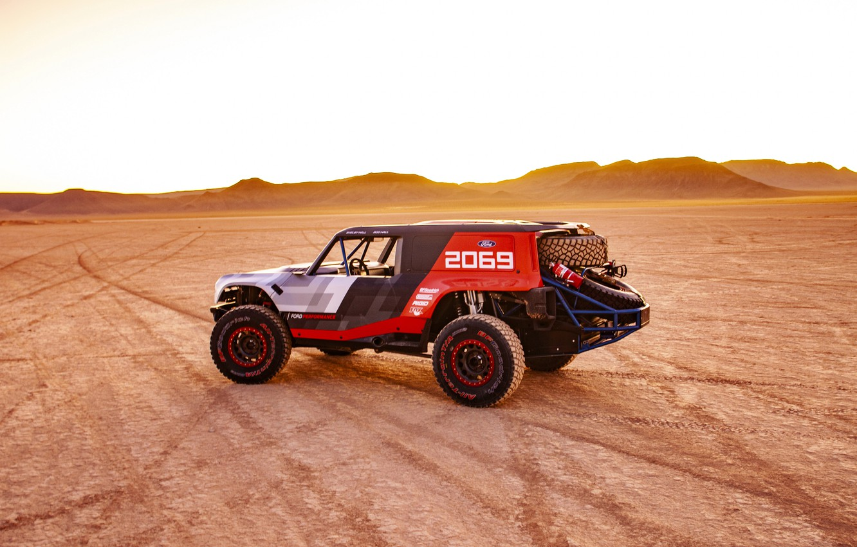 Photo wallpaper desert, Ford, side view, 2019, Bronco R Race Prototype