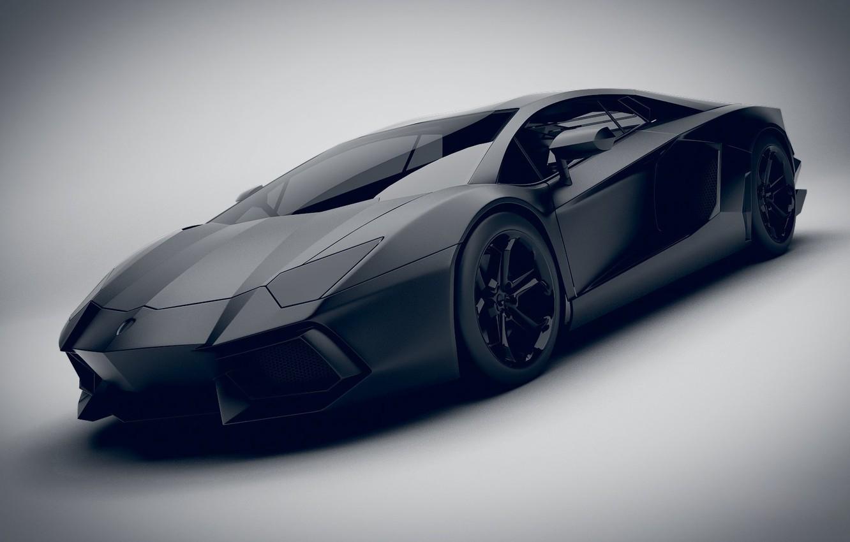 Photo wallpaper Auto, Black, Machine, Render, Black, Aventador, Lamborghini Aventador, Matt, Transport & Vehicles, Emil Klingberg, by …